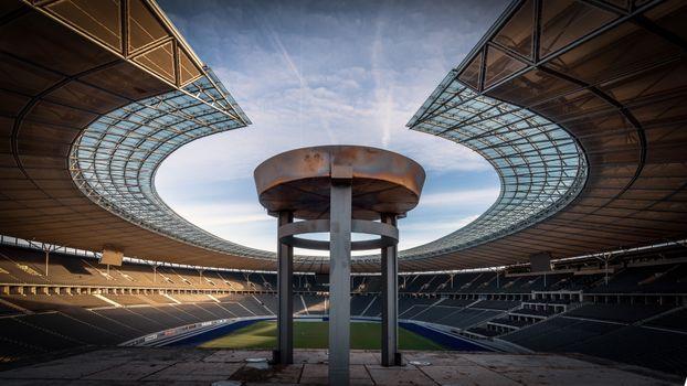 Фото бесплатно футбольный стадион, архитектура, трава