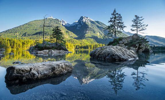 Фото бесплатно Hintersee, Bavaria, озеро