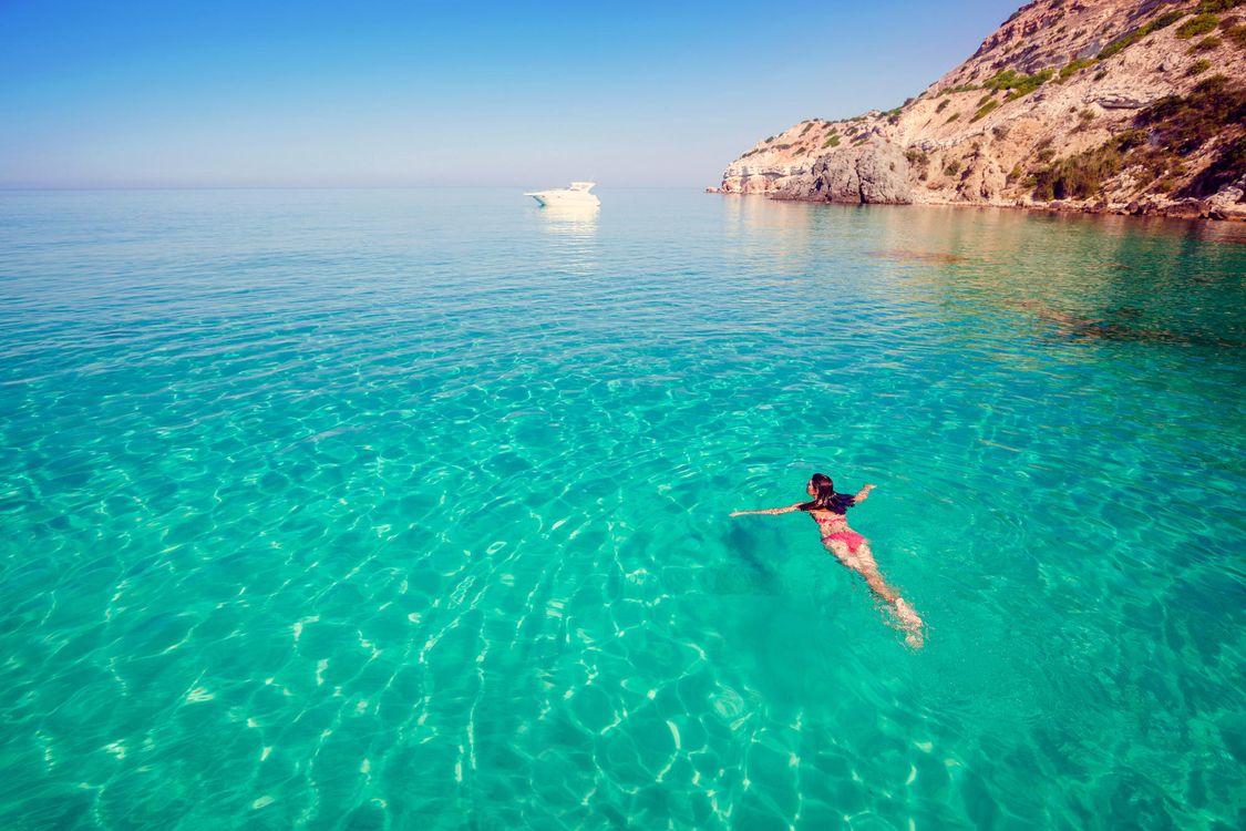 Фото бесплатно море, яхта, девушка, пейзажи