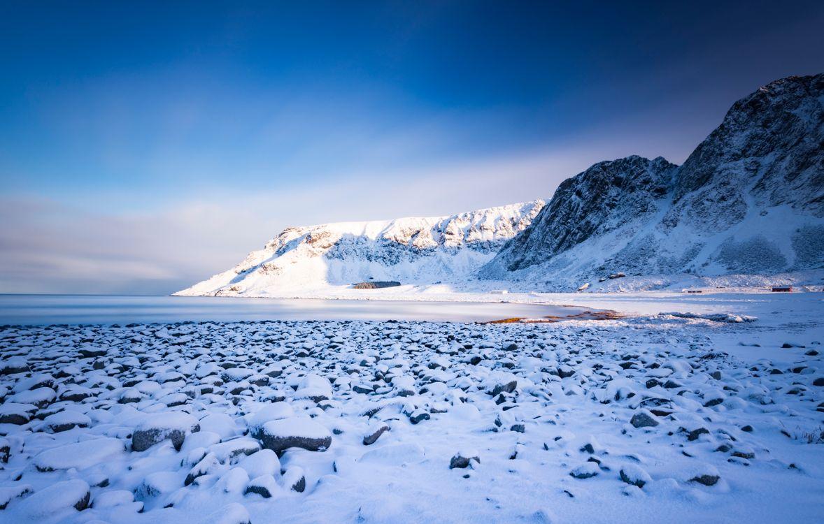 Фото снег природа снежные горы - бесплатные картинки на Fonwall