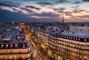 Бесплатные фото Париж,Франция,Paris,город,ночь,огни