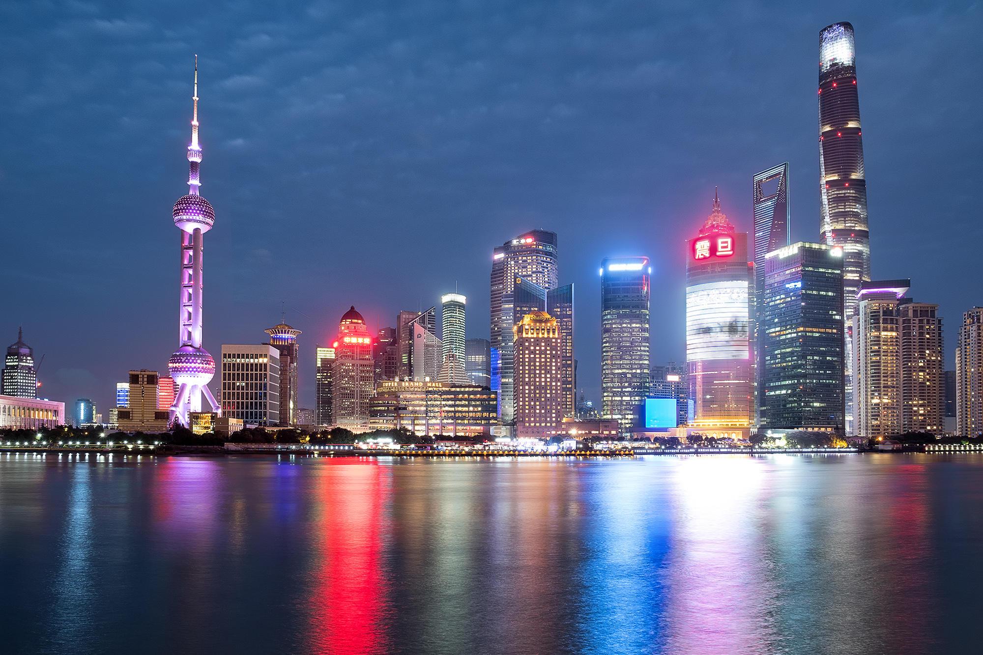 Обои Шанхай, Китай, Ночь
