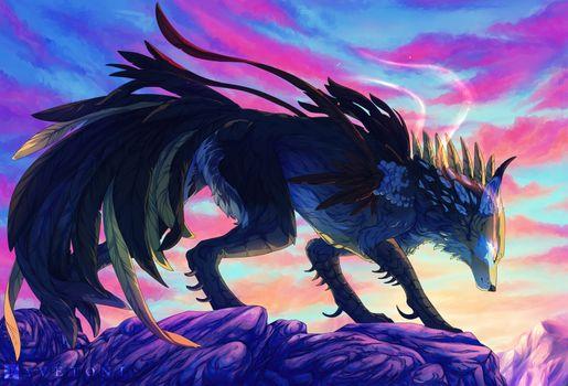 Photo free wolf, artist, artwork