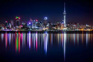 Фото бесплатно Новая Зеландия, панорама, небоскребы