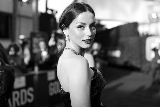 Photo free Ana De Armas, сelebrities, black and white