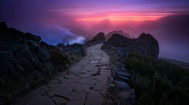 Photo free height, stone path, тропинка