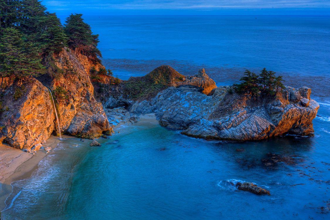 Free photo landscape, Big Sur, sea - to desktop