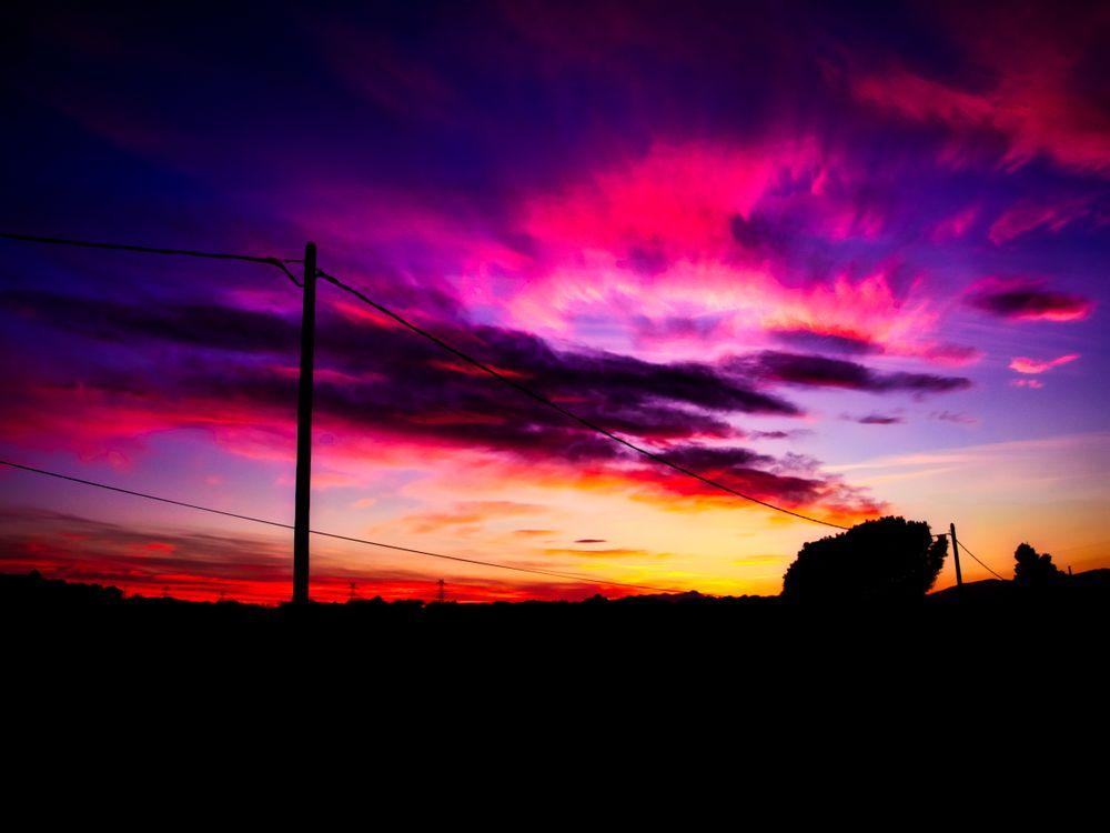 Чудесный закат солнца · бесплатное фото
