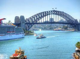 Фото бесплатно Sydney, Мост Харбор-бридж в Сиднее, Сидней