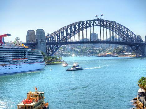 Photo free Sydney, Bridge Harbor Bridge in Sydney, Australia