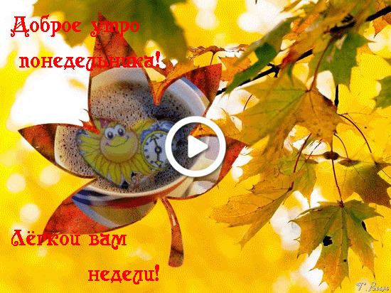 Postcard free monday, good morning autumn monday, good fall monday