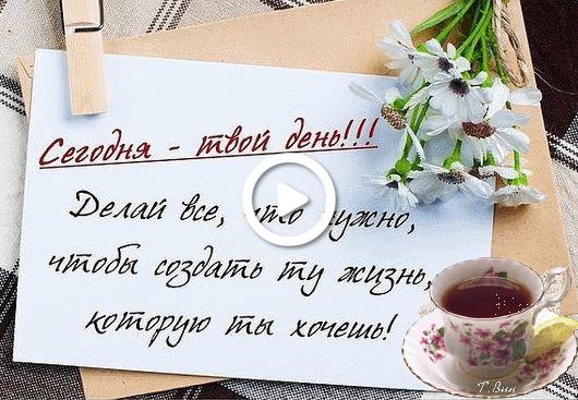 Postcard free request, tea, a cup
