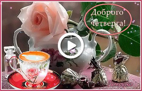 Postcard free saucer, coffee cup, pink rose