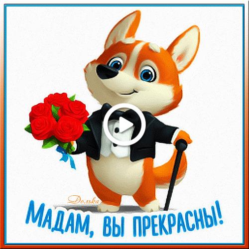 Postcard free compliment, flowers, bouquet