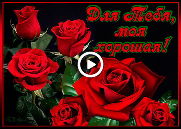 Postcard free flowers, roses, for you