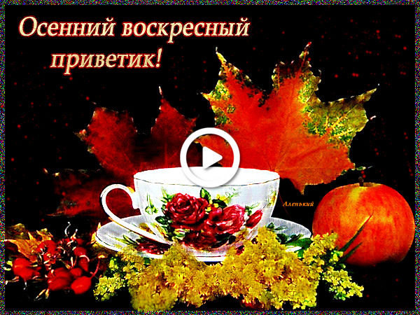 Postcard free leaves, happy autumn sunday morning, good morning sunday fall