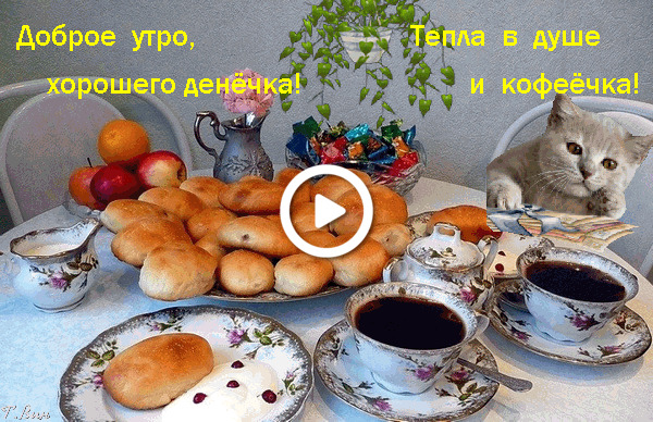 Postcard free morning wish, good morning and have a nice day, food