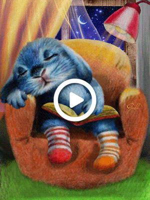 Postcard free animation, gala, sweet dreams